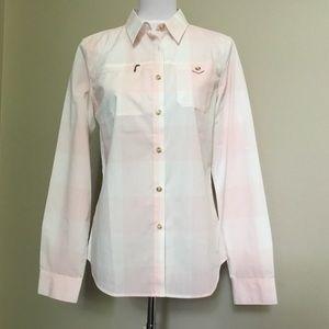 PATAGONIA pink Check breathable cotton shirt M